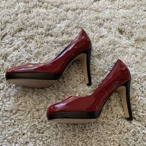 Jessica Simpson Deep Red Pumps